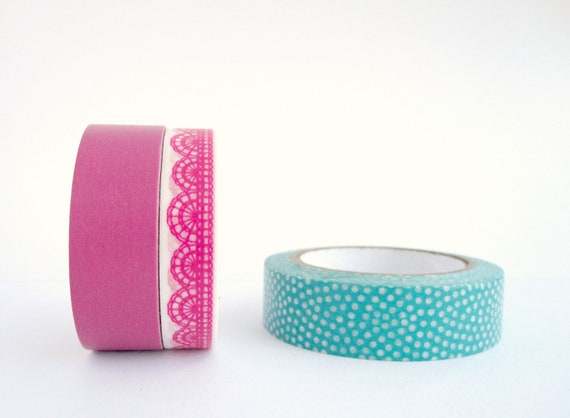 Washi Tape Set of 3 : Jeweled Lace