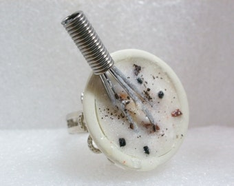 Mixing bowl Ring. Polymer Clay.