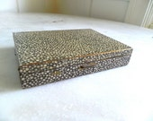 Vintage Faux Sharkskin Makeup Compact by Xeau