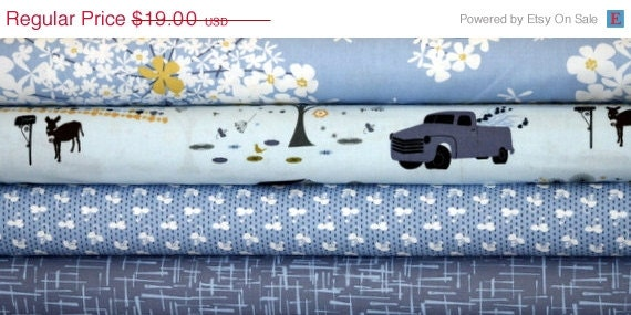 HOLIDAY SALE Michael Miller Fabric Bundle, Madrona Road by Violet Craft, 4 Half yards