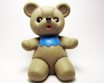 Cute little rubber bear, his name is Anton. Use him for mixed media art, photography projects, or company.