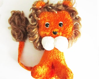 16'' LION vintage toy, his name is Basilio. Use him for assemblage, mixed media or to keep company.