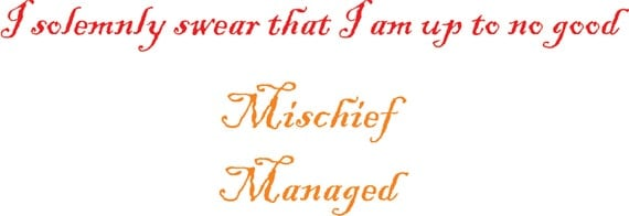Mischief Managed and I solemnly...  Vinyl Decals  FREE SHIPPING