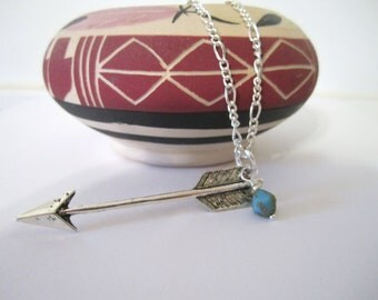 Arrow Necklace - Antique Silver