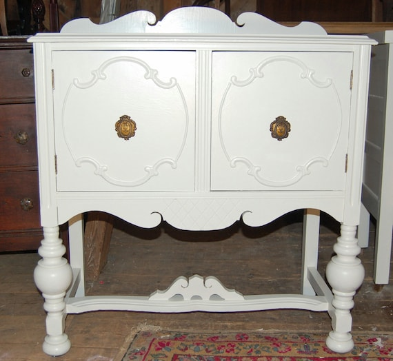 Free NYC Delivery: Great Curves- Vintage Painted Buffet / Sideboard  or Repurposed as a Changing Table or Bar Perhaps