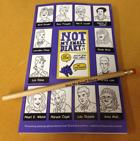 Not My Small Diary zine #17 - High School theme - autobio comics anthology