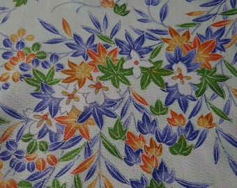 Japanese floral kimono fabric