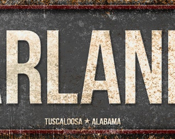 "McFarland Blvd. // Metal Sign // 5.5"" x 22"""