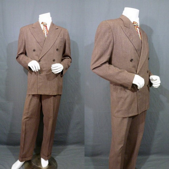 Items similar to SALE Mens Vintage 40s Zoot Suit Double ...