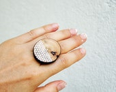 Simple Modern Tree Branch Ring Wood Ring Dotted