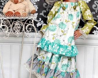 Harmony's Twirly lace Skirt PDF Pattern sizes 6-12 months to 8