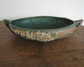 Roseville USA Pottery Foxglove Pattern Console Bowl