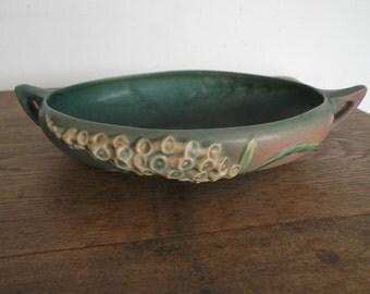 Roseville USA Pottery Foxglove Pattern Console Bowl