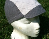 Gray Striped Cycling Cap