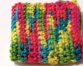 Crocheted Hot Pad Dish Cloth Carousel Cotton Yarn