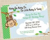 Monkey Business Birthday Invitation - Customizable