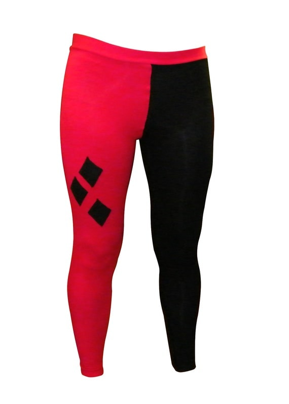 Harley Quinn (Arkham City) Red & Black Leggings