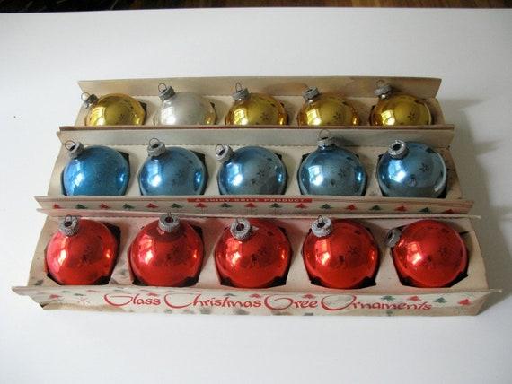 Vintage Shiny Brite Ornaments, Set of 15 in Original Boxes