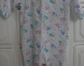 SALE .......... Set of two Vintage  Pajamaas / Pink Bear Sleeper / Multi Colored Bear Footed Sleeper / 3-6 Months / 6-12 Months