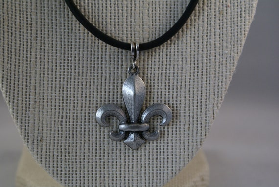 SPECIAL ORDER for Colleen - Fleur-de-Lis Pewter Pendant with Sterling Findings