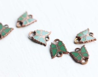 Butterfly Charms, Green Butterfly Charms (6x)