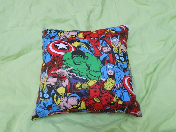 "Marvel Superheroes Throw Pillow - 12"" x 12"""