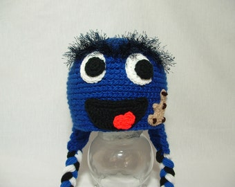 Fun Soft Cookie Monster Hat from Sesame Street  Earflap