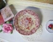Red Rose Garden Dollhouse Plate