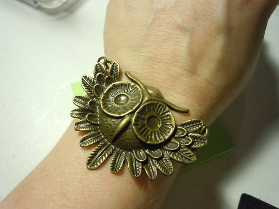 Metal Owl Bracelet