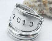 Graduation SPOON RING CLASS of 2014 Handstamped Silverware Jewelry- you choose year Graduation Gift