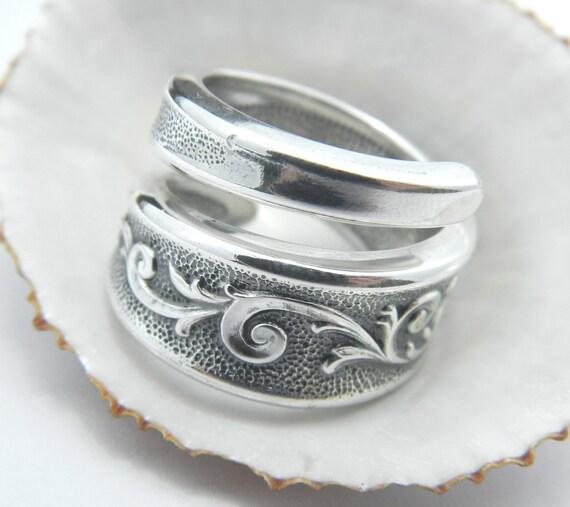 Spoon ring, Silver Spoon Ring - Esperanto Antique SPOON RING Silverware Jewelry