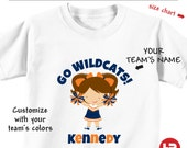 Personalized Cheerleader Shirt or Bodysuit - Customized with your team's colors and name