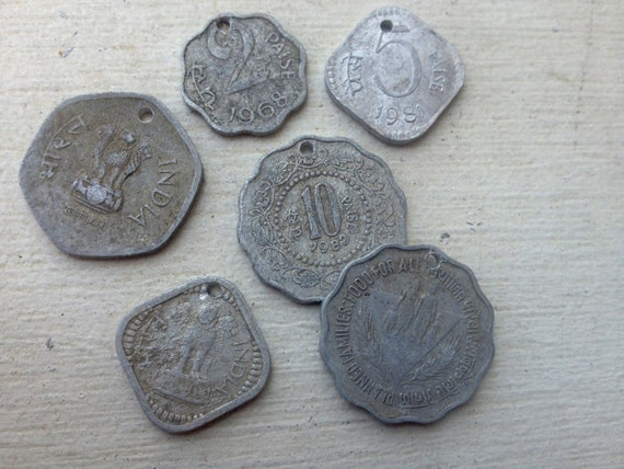 10 East Indian Coins:  Assemblage, Tribal Belly Dance, India, Antique Silver, Coin Bra