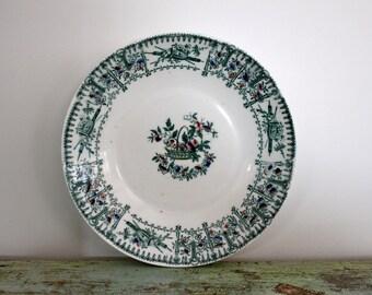 Vintage ironstone bowl / plate