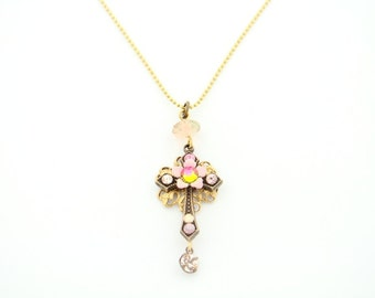 Orly Zeelon Jewelry - The Filigree Flower Cross Pendant