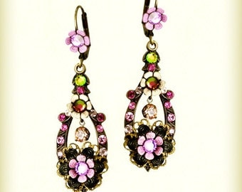 The Istanbul Oval Floral  Earrings - 208102-0072 Orly Zeelon