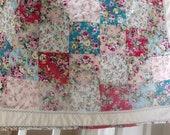 Retro roses patchwork quilt