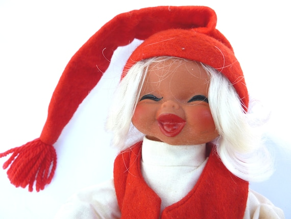 Vintage Girl Gnome by Arne Hasle, made in Norway, Nisse Elf Troll Gnome Goblin