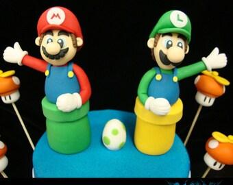Mario and Luigi Cake Toppers