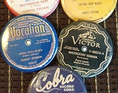"""Blues 78 label buttons - batch of 5 - 2.25"""" buttons from mojohand.com - high quality - batch 3"""