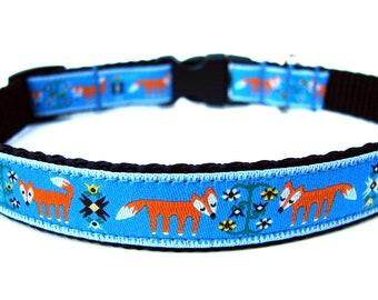 "Unique Dog Collar 5/8"" Fox Dog Collar"