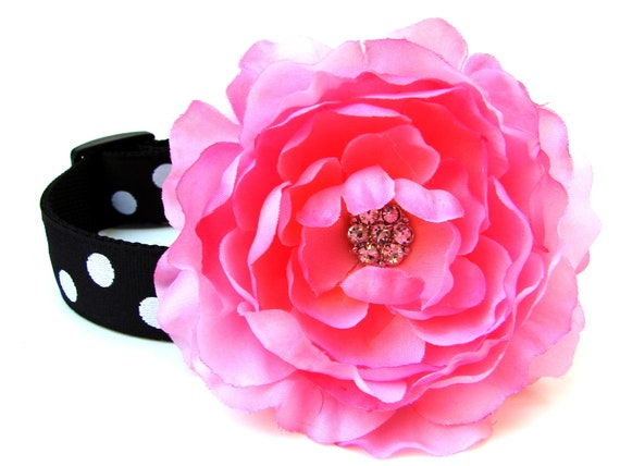 Dog Collar Flower Add-On for Your Custom Dog Collar Pink