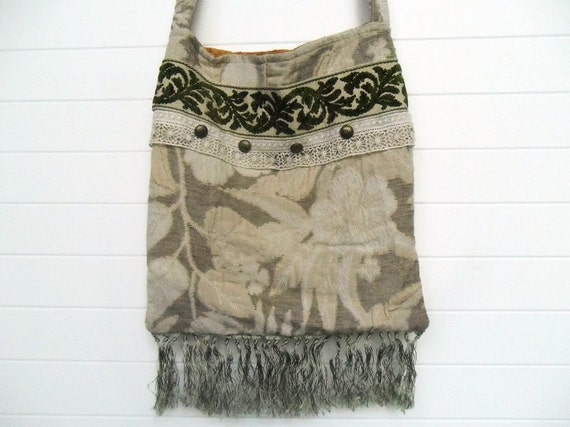 Bohemian Gypsy Bag Purse Hippie Vintage Trim