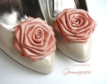 Blush Rose / Powder Rose Shoe Clips