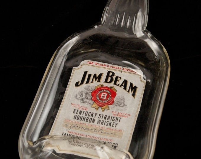 Jim Beam Bottle Melted Into a DISH
