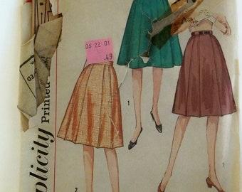 1960s Vintage Simplicity Pattern Women's Aline Gored Skirts