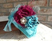 Plum Pudding Teal Crochet Baby Hat