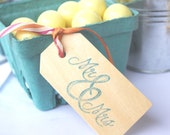 LittLe Wood GiFT Tags--stamp,paint or add  ribbon or stickers--set of 5
