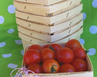 WooD BERRY BASKETS--2 DOZEN-24ct-Fall Party Favor Baskets--Weddings--Showers--Farm Birthday Parties--24