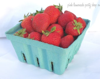 LaRGe FARM FRESH BERRY Baskets-6ct Quart Sized-Party Favors-Weddings-Showers--Add Cookies, Cupcakes, Fruit or Gifts-